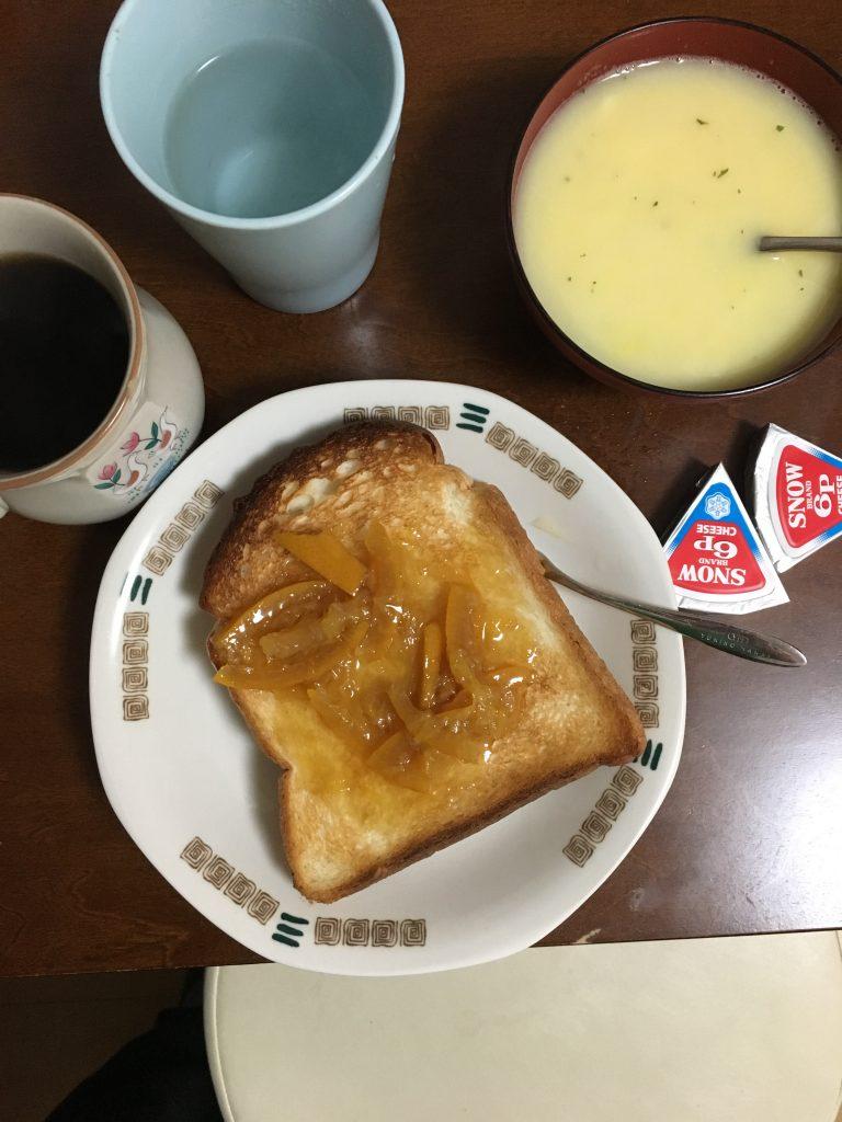 サラリーマン時代の朝食