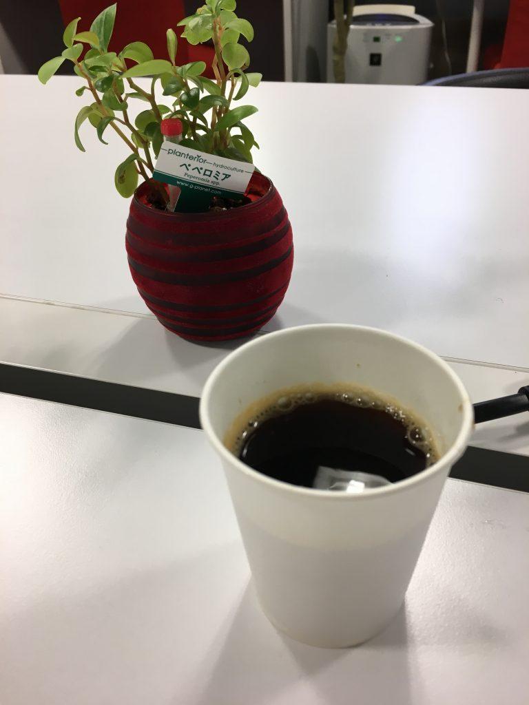 勉強カフェでもらったコーヒー
