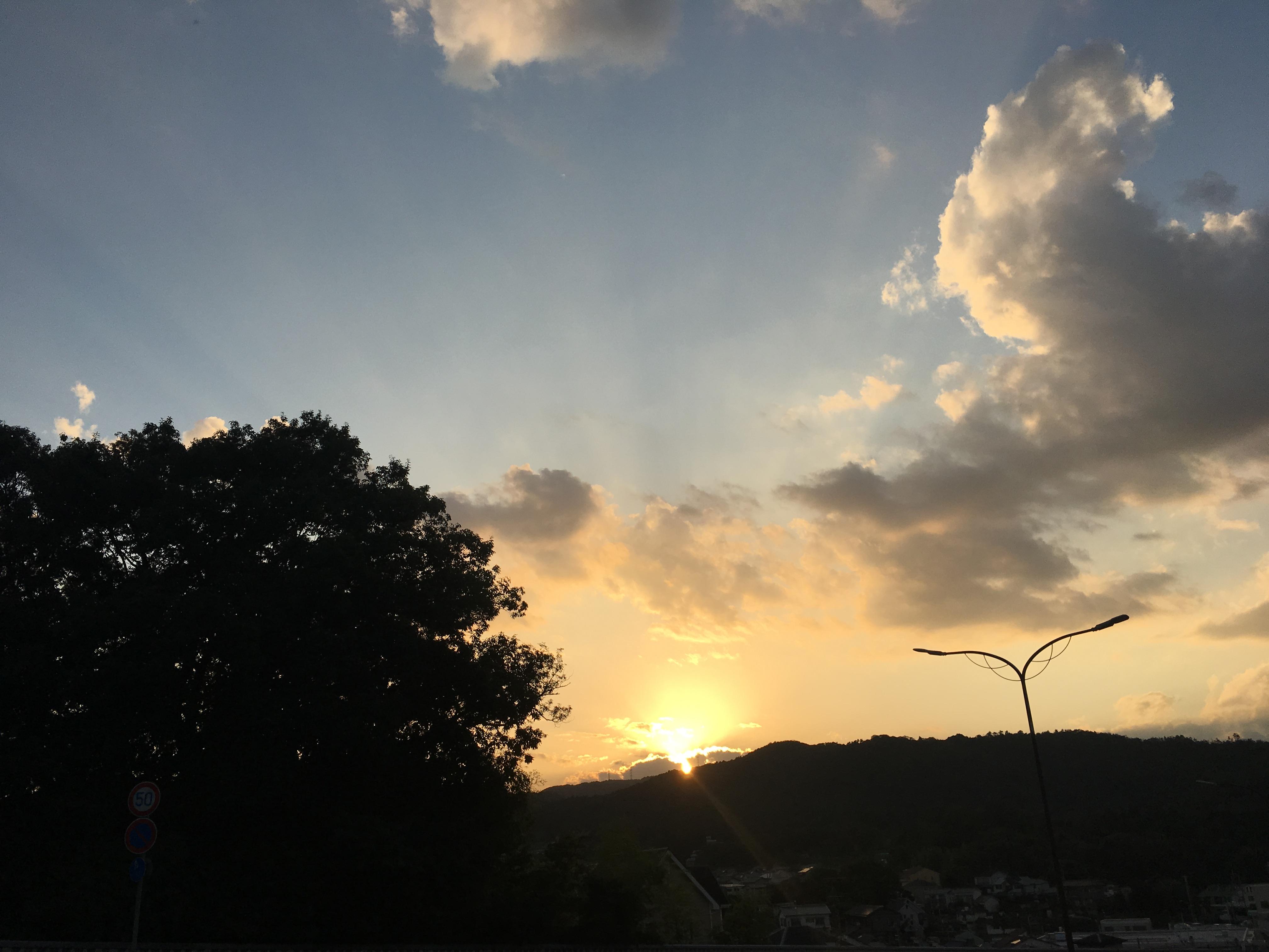 ご褒美前の夕日