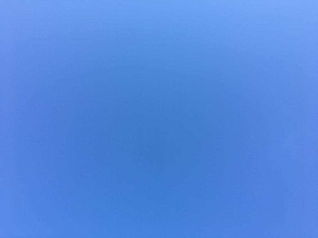 曇りなき空