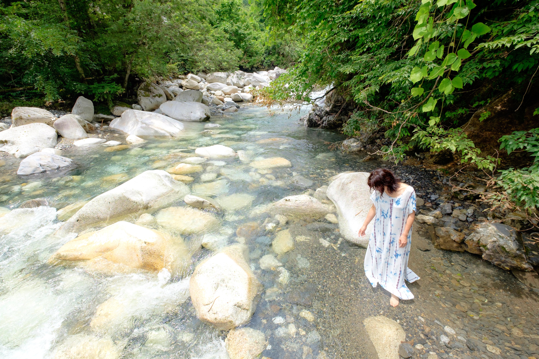 水に流す安曇野の私