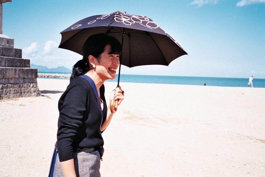 津田の松原で笑顔