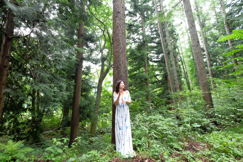 安曇野の森の中