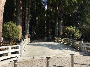 奥之院に続く橋