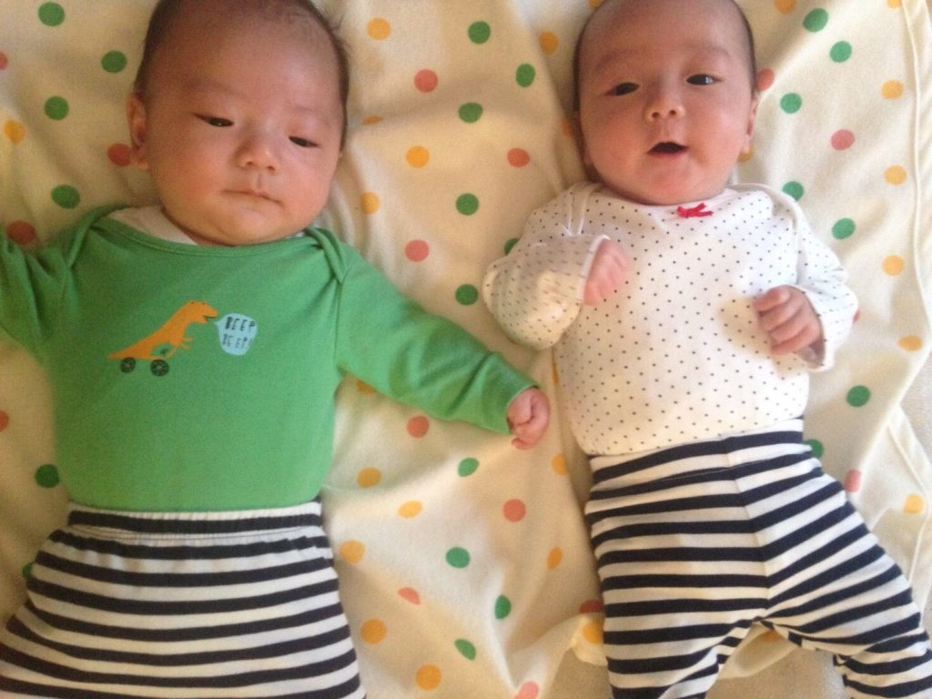 機嫌のいい双子