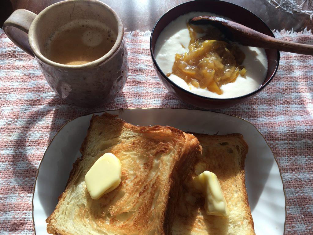 ゆるい朝食