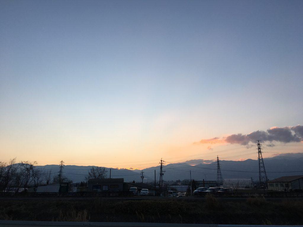 松本の夕方