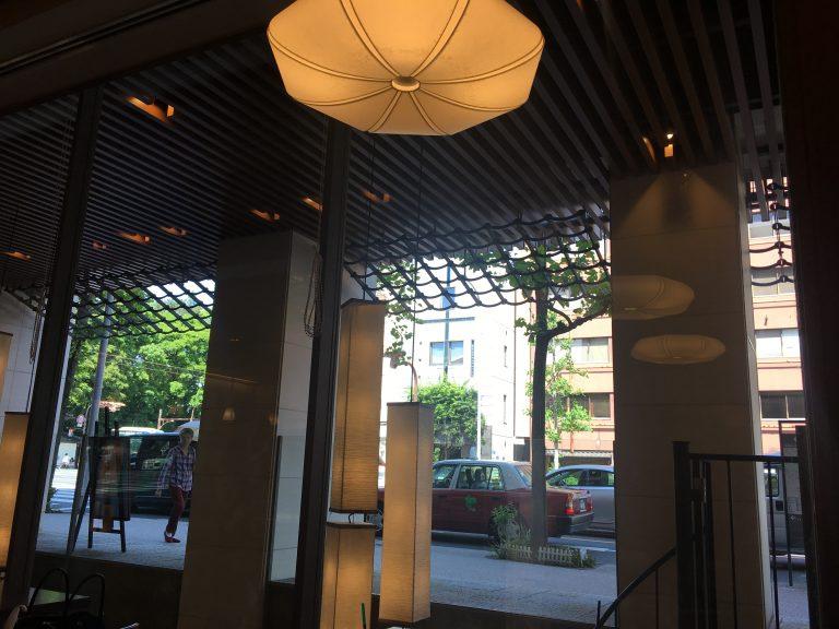 ホテル内の喫茶ルーム