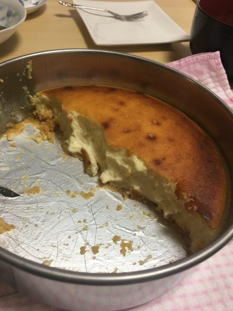 熱々チーズケーキ