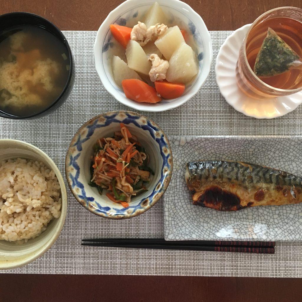 和食と絢福茶