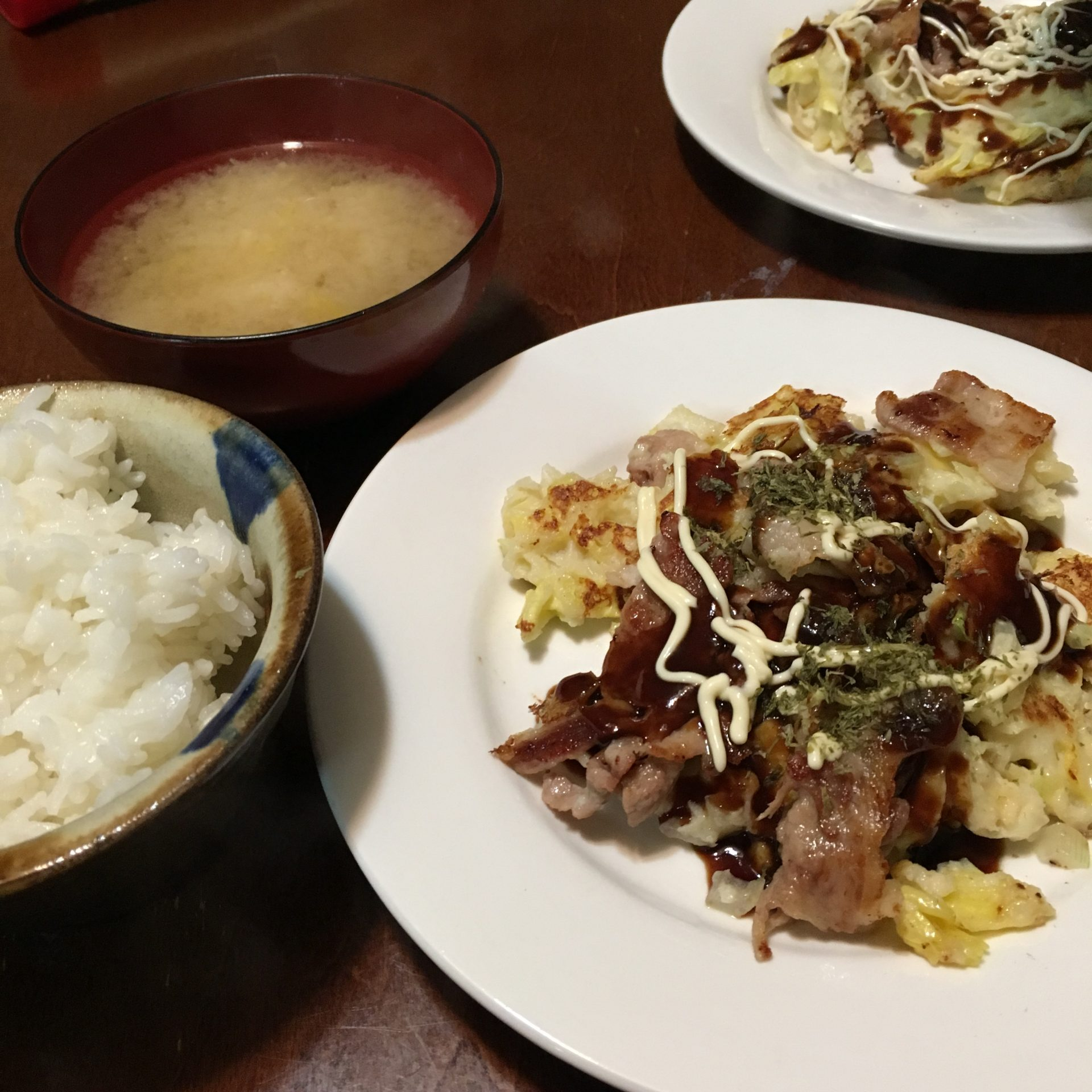 米粉のお好み焼き