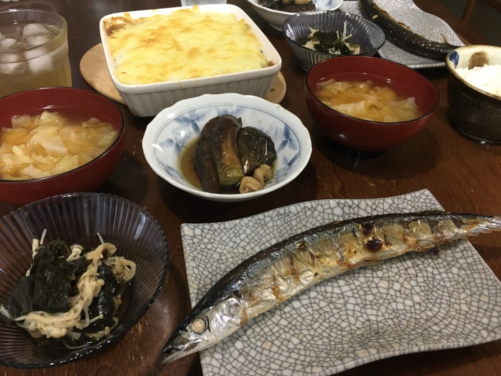 秋刀魚の晩御飯