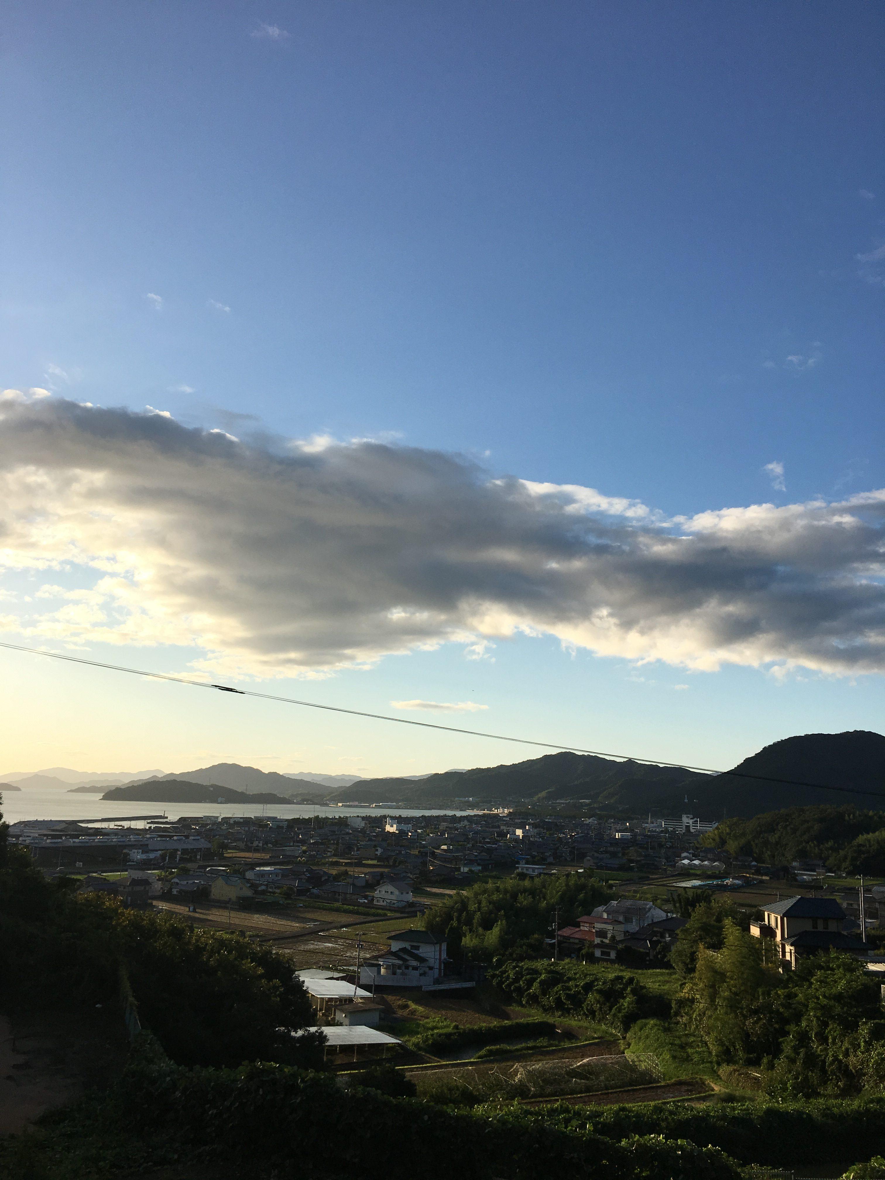 津田の朝焼け