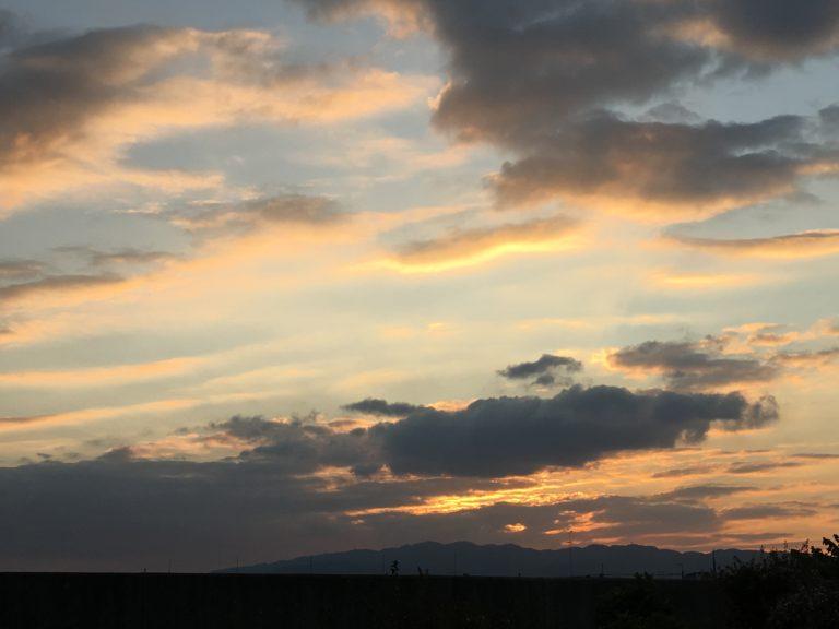 伊丹空港夕焼け